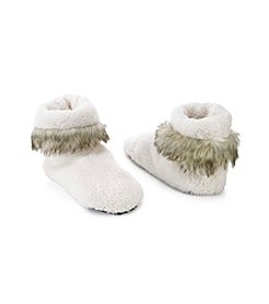 Fuzzy Babba® Solid Fur With Cuff Slipper