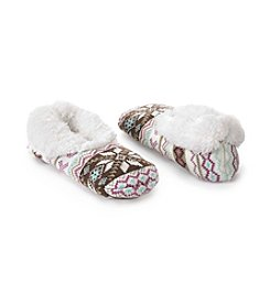 Fuzzy Babba® Teddy Fur Fair Isle Slippers