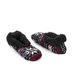Fuzzy Babba® Teddy Fur Fairisle Slippers
