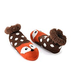 Fuzzy Babba® Cozy Warmer Fox Dots Slippers