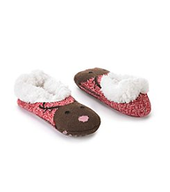 Fuzzy Babba Teddy Fur Deer Face Slipper