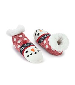 Fuzzy Babba Cozy Warmer Snowman Slipper