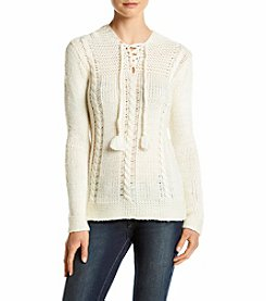 Ruff Hewn Hooded Tassel Pullover Sweater