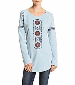Ruff Hewn Embroidered Shirttail Sweatshirt