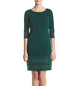 Jessica Howard® Studded Trim Shift Dress