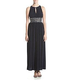 R&M Richards® Bead Waist Maxi Dress