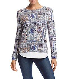 Ruff Hewn Petites' Allover Print Sweatshirt