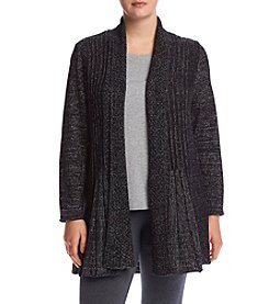 Studio Works® Plus Size Lurex Fan Cardigan Sweater