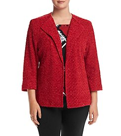Alfred Dunner® Plus Size Wrap It Up Boucle Jacket