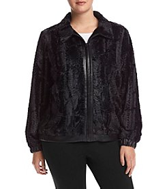 Alfred Dunner® Plus Size Wrap It Up Faux Fur Jacket