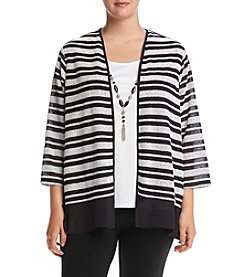 Alfred Dunner® Plus Size Wrap It Up Layered Look Knit Top
