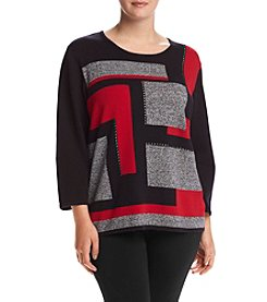 Alfred Dunner® Plus Size Wrap It Up Colorblock Sweater