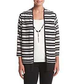 Alfred Dunner® Petites' Wrap It Up Layered Look Knit Top