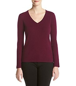 Premise Cashmere® Solid V-Neck Sweater
