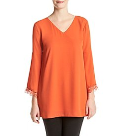 Philosophy by Republic Clothing Solid V-Neck Tunic