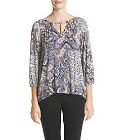 Oneworld® Paisley Print Top