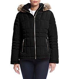 Calvin Klein Petites' Faux Fur Trimmed Hood Down Jacket
