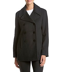 Calvin Klein Petites' Notch Collar Peacoat