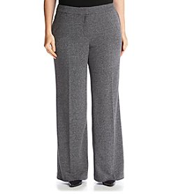 Jones New York® Plus Size City Herringbone Wide Leg Pants