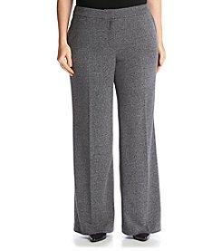 Jones New York® Plus Size City Herringbone Wide Leg Pants