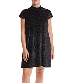 Chelsea & Theodore® Plus Size Mock Neck Sparkle Swing Dress