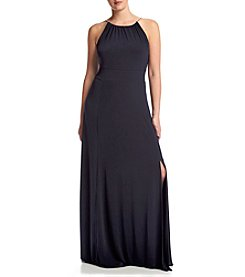 MICHAEL Michael Kors® Plus Size Braided Halter Maxi Dress