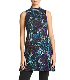 Joan Vass New York® Floral Print Swing Tunic