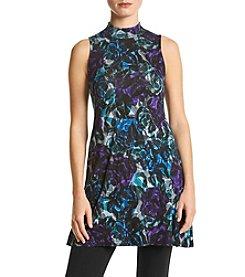 Joan Vass New York® Floral Print Swing Tunic
