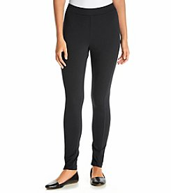 Joan Vass Solid Ponted Leggings