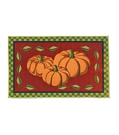 Essential Elements Pumpkin Border Accent Rug