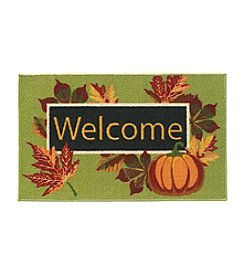 Essential Elements Pumpkin Welcome Accent Rug