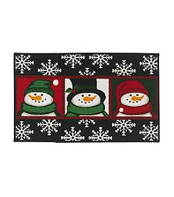 Essential Elements Three Snowmen Accent Rug