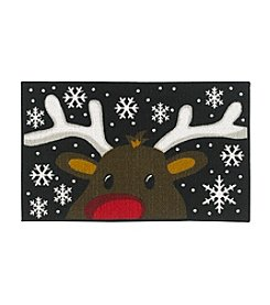 Nourison Reindeer Face Accent Rug