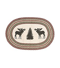 Ruff Hewn Herringbone Moose And Tree Accent Rug