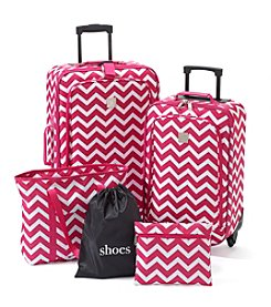 TravelQuarters Pink Chevron 5-pc. Luggage Set