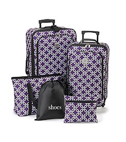 TravelQuarters Purple Chain 5-pc Luggage Set