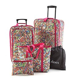 TravelQuarters Pink Paisley 5-pc. Luggage Set