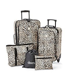 TravelQuarters Tan Leopard 5-pc.Luggage Set