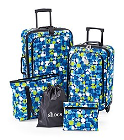 TravelQuarters Blue Geo 5-pc. Luggage Set