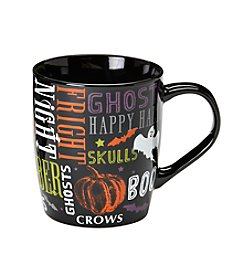 LivingQuarters Halloween Words Mug
