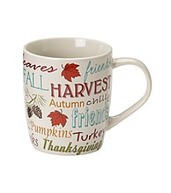 LivingQuarters Harvest Words Mug