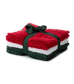LivingQuarters Holiday 6-pk. Cotton Washcloths
