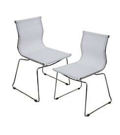 Lumisource® Set of 2 Mirage Stackable Chairs