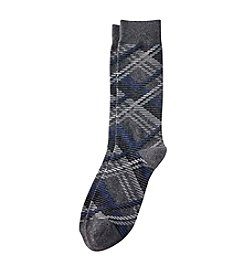Kenneth Roberts® Men's Grey Plaid Dress Socks