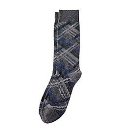 Kenneth Roberts® Men's Grey Plaid Dress Socks