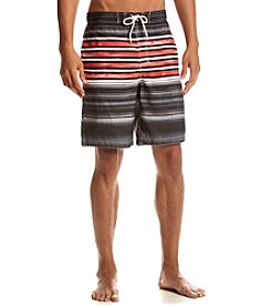 Paradise Collection® Men's Striped Swim Trunks