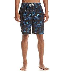 Paradise Collection® Men's Blue Island Swim Trunks