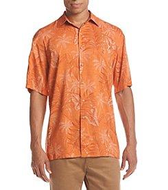 Paradise Collection® Men's Leaf Print Button Down Shirt