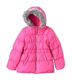 Hawke & Co. Girls' 2T-6X Sparkle Bubble Jacket