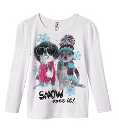 Beautees Girls' 4-6X Snow Over It Tee